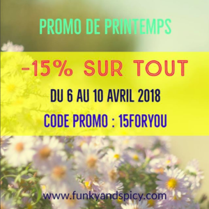 Funky&Spicy promo printemps 2018
