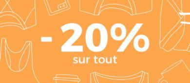 -20% sur tout !!